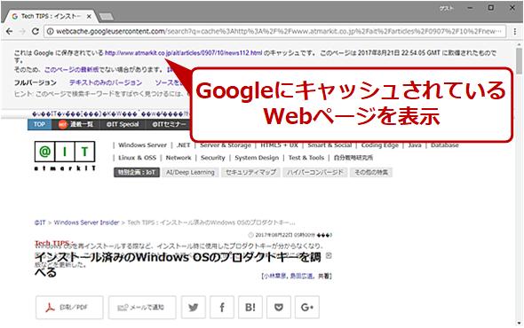 「cache:」を使った検索出力例