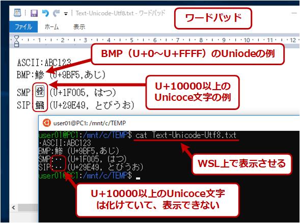 Unicodeのテキストを表示させてみる