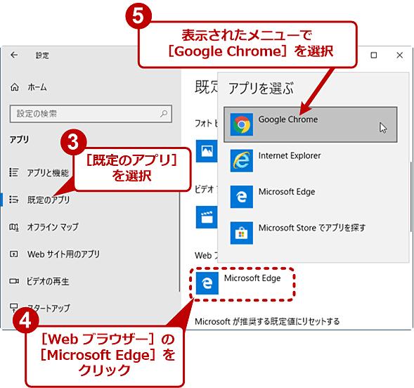 Chromeをデフォルトのブラウザに設定(2/2)