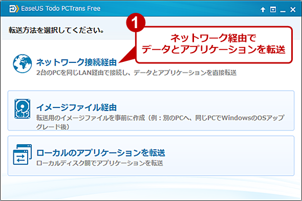 Todo PCTrans Free 9.8の画面(1)