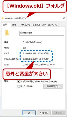[Windows.oldのプロパティ]画面