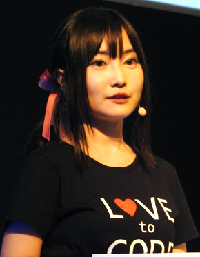 実演デモで登壇した日本マイクロソフトの千代田まどか氏