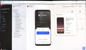 動作に失敗したスマートフォンの詳細やログが確認できる