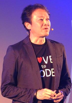 日本マイクロソフト 執行役員 最高技術責任者 榊原彰氏「設計図共有サイトのファンの皆さんこんにちは」「もう、お父さん世代のMicrosoftではありません」の発言で会場が沸いた