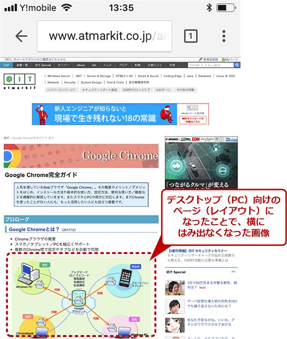 デスクトップ(PC)向けWebページを表示する(3/3)