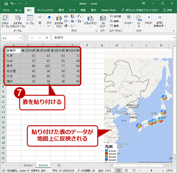 Bingマップ上にグラフを挿入する(7)