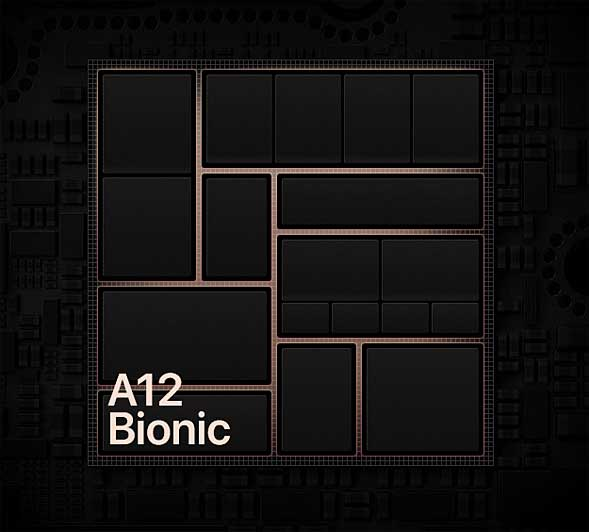 AppleのiPhone Xsなどに搭載されている「A12 Bionic」のイメージ