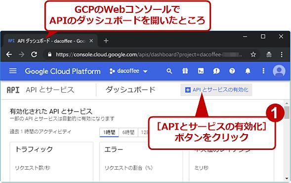 利用するマップ用APIを有効化する(1/3)