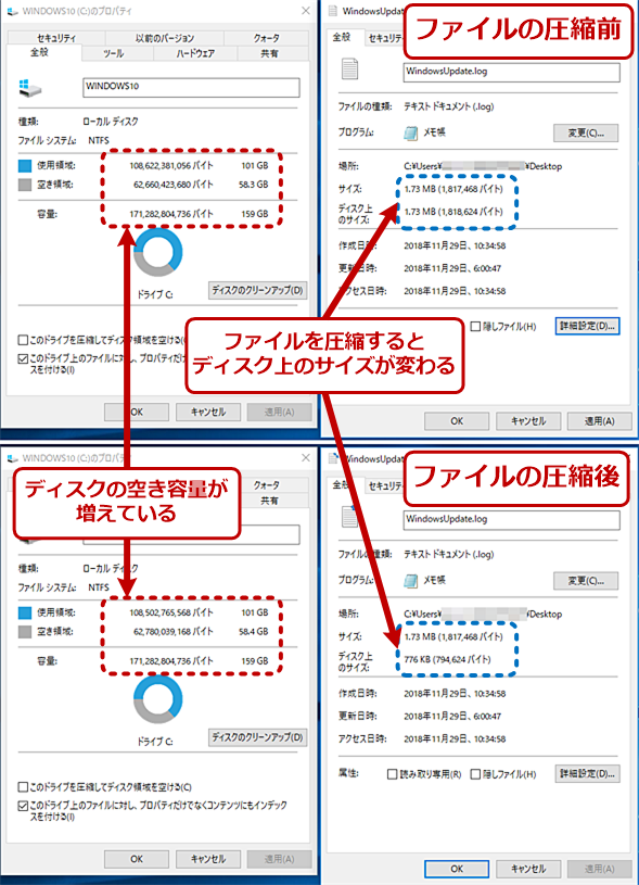 フォルダやファイルを個別に圧縮する(3)
