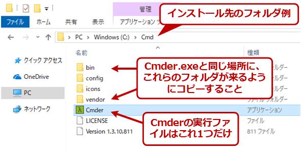 CmderのZIPファイルの内容
