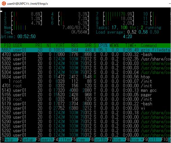 WSL上で動作しているプロセスの一覧を調べる