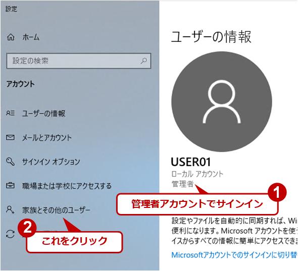 ユーザーアカウントの作成(1)