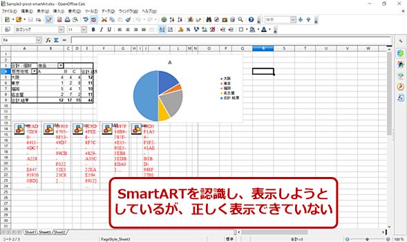 OpenOfficeのSample3の画面