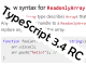 Microsoft、プログラミング言語「TypeScript 3.4」のリリース候補版(RC)を公開