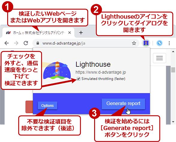 拡張機能版LighthouseでWebページを検証する(1/3)