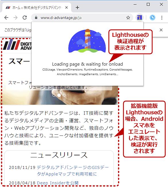 拡張機能版LighthouseでWebページを検証する(2/3)