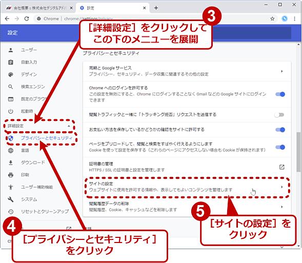 Chromeで全サイトの音声再生を禁止する(2/4)