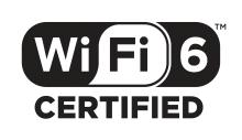 Wi-Fi 6の認証に合格した製品に付けられる認証マーク