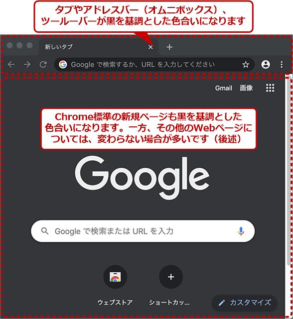 ダークモードになったmacOS版Chrome
