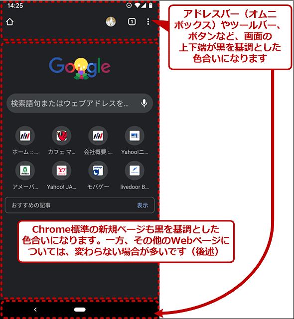 ダークモードになったWindows OS版Chrome
