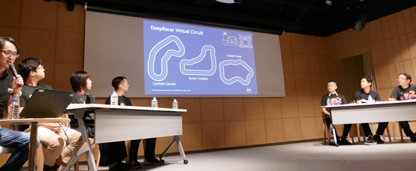 図1 AWS DevDay Tokyo 2019の「パネルディスカッション:AWS DeepRacerと機械学習の可能性」の様子