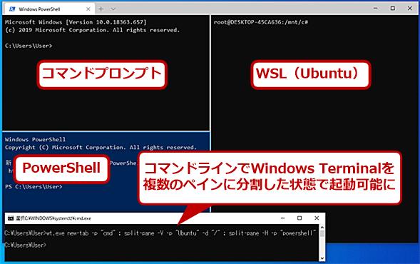 Windows Terminal v0.9はコマンドラインオプションを実装