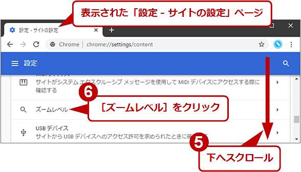 全サイトのズームレベルをまとめて元に戻す(3/4)