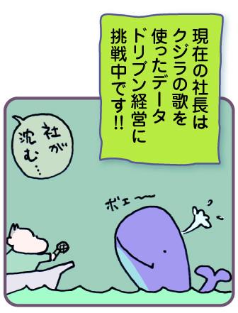 現在の社長はクジラの歌を使ったデータドリブンを試みています