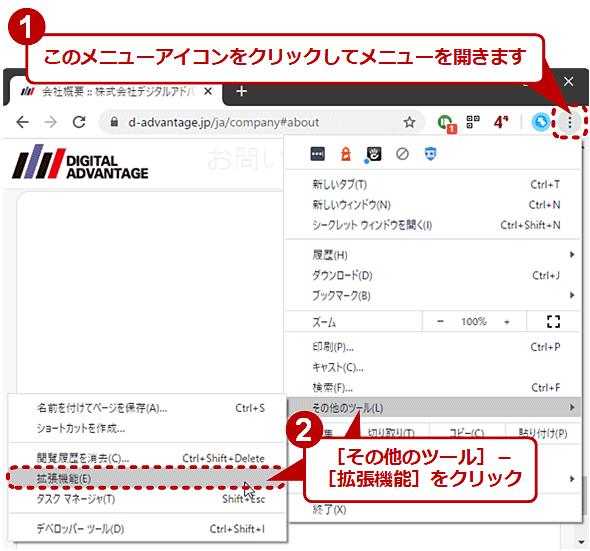 Chromeの拡張機能にキーボードショートカットを割り当てる(1/5)
