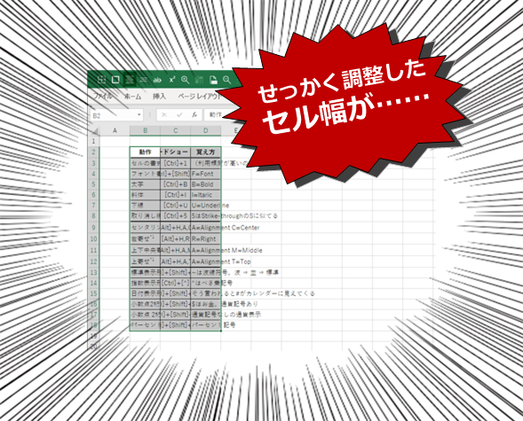 Excelで表のコピー&ペーストは時間の無駄?