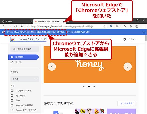 Google Chromeの拡張機能がMicrosoft Edgeに追加できる?