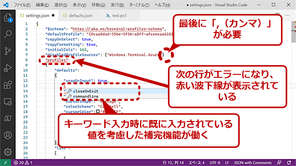 Visual Studio CodeなどのJSONスキーマに対応したエディタ