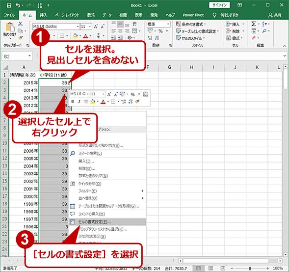 セルでユーザー定義書式を使う(1)