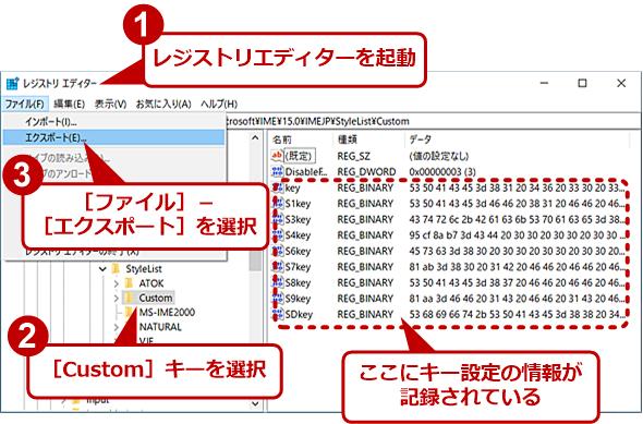 Microsoft IMEのカスタマイズ情報をエクスポートする