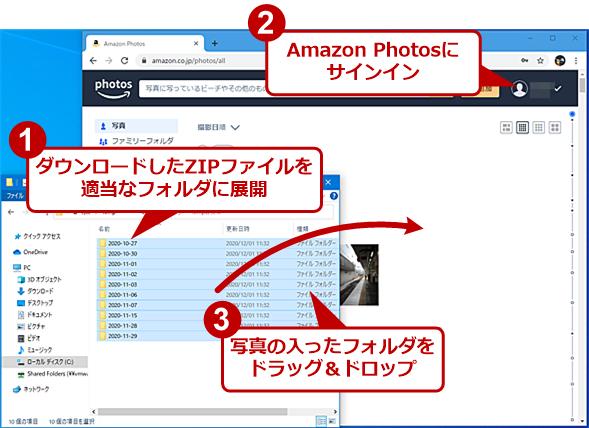 Amazon Photosにアップロードする