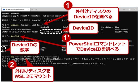 外部ディスクをWSL 2にマウントする