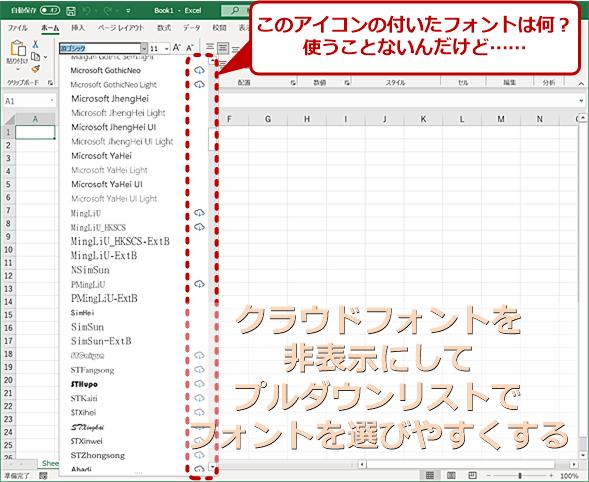 Microsoft 365版のMicrosoft Officeではクラウドフォントに対応