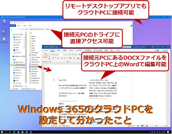 Windows 365が提供するクラウドPCを使ってみて分かったこと