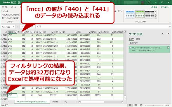 データをフィルタリングしてExcelで読み込む(8)