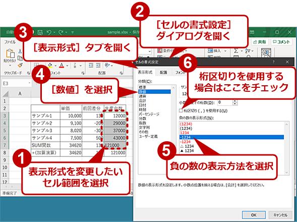 セルの表示形式を「文字列」から「数値」に変える(1)