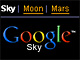 Google Earth�s�v��Web�ŁuGoogle Sky�v�o��