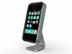 仕事耕具:机上でのハンズフリー通話にも iMac風iPhoneスタンド
