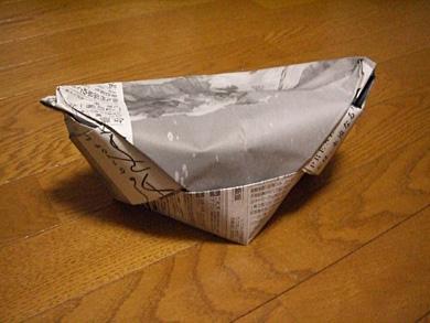 クリスマス 折り紙:新聞紙 ゴミ箱 折り方-matome.naver.jp