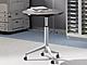 ライオン事務器の折りたたみ式サポートテーブル、天板昇降機能付き