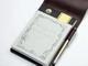 ツバメノートが手のひらサイズの大学ノート 専用の革製カバーも同時に発売