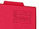 """仕事耕具:重要書類は""""赤""""——フォルダー全体が赤色、ライオン事務器の「重要案件フォルダー」"""