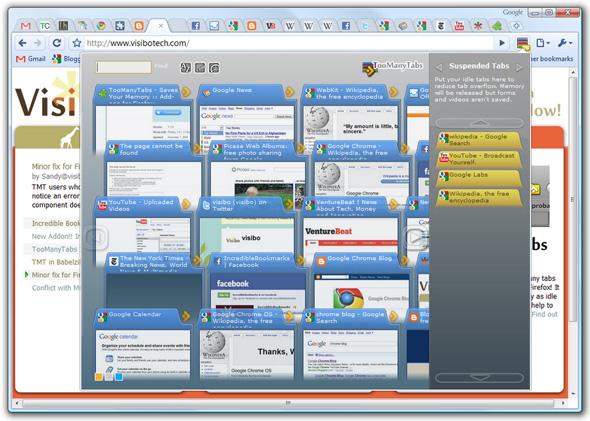 Chrome用 TooManyTabs