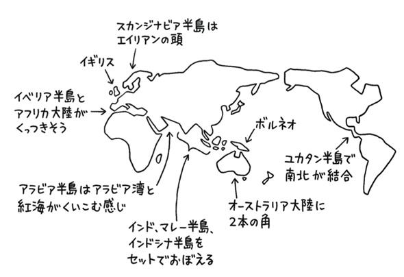 世界地図は、交通の要所に着目すればうまく描ける