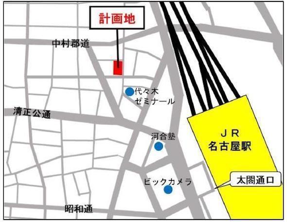 名古屋則武NKビル開発の位置図