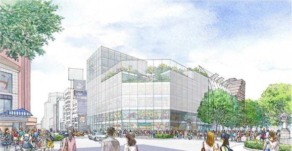 神宮前六丁目地区第一種市街地再開発事業の外観ボリュームイメージ